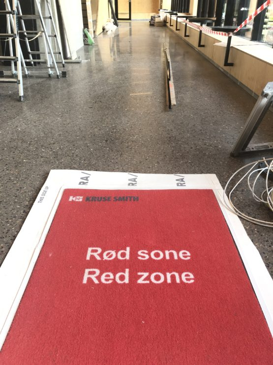 Logomatte Rød sone