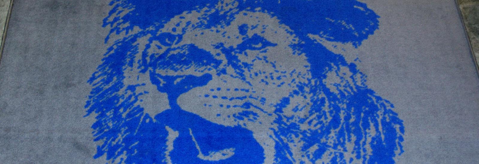 Logomatte motiv løvehode